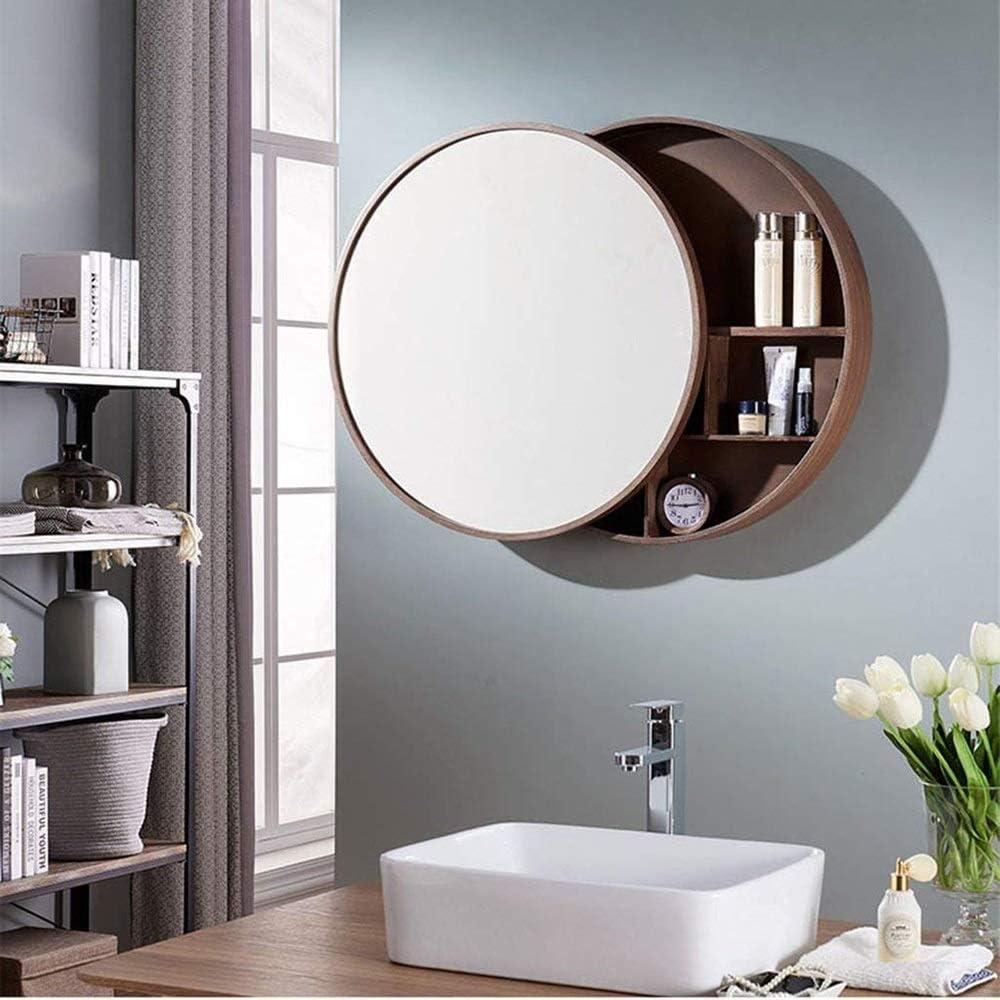 Amazon.de Rund Spiegel Badezimmer Spiegelschrank Schiebe Locker ...