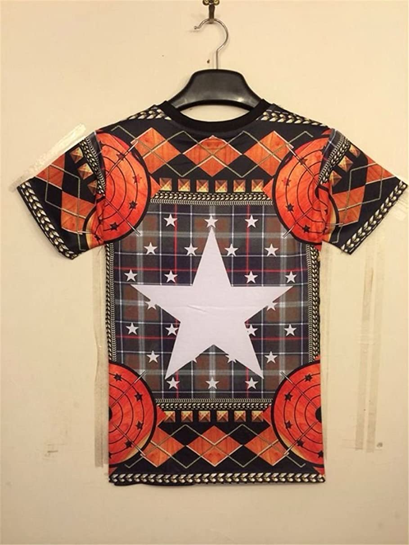 推論変成器衣服Women Men Unisex 3D Print Galaxy Animal hipster Tee Shirt(Pentagram)