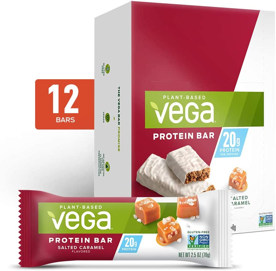 Vega 20g Protein Bar New Orleans Mall Salted - Max 49% OFF Protei Caramel High Vegan
