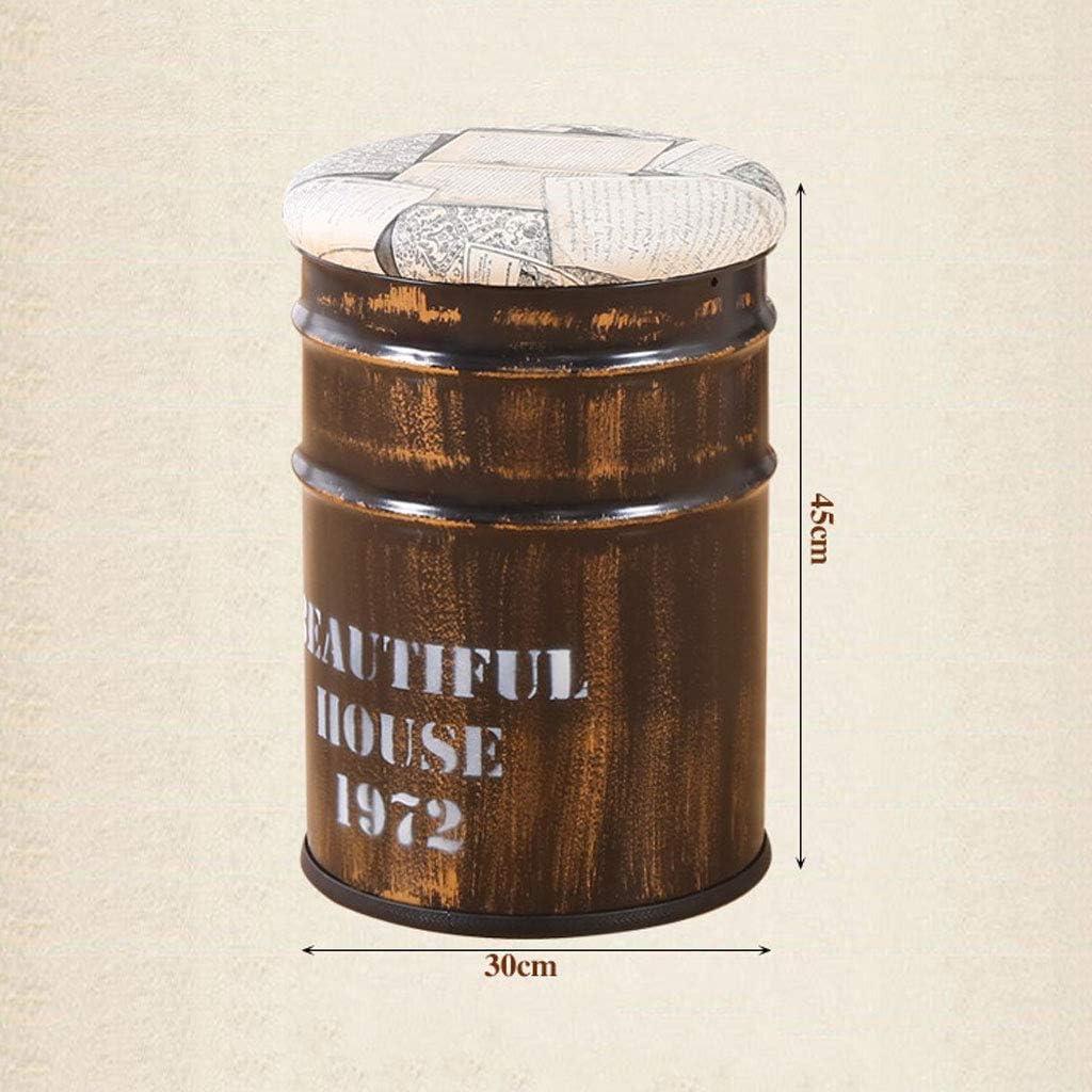 Tabouret de Rangement Tabouret en Fer Solide Ottoman Repose-Pieds Pratique Poufs en Pouf avec Couvercle en Similicuir (Color : Blue) Yellow