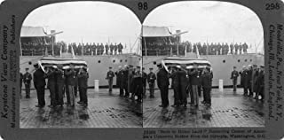 Unknown Soldier C1918 Nremoving The Casket Of An Unknown American Soldier From The Uss Olympia At Washington DC Stereograp...