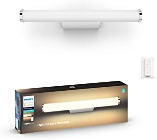 Philips Hue Adore Badkamerinbouwspot Basis Set - IP44 - Duurzame LED Verlichting - Warm tot Koelwit Licht - Incl. dimmer s...
