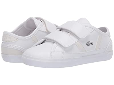 Lacoste Kids Sideline 120 2 CUI (Toddler/Little Kid) (White/Off-White) Kid