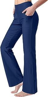 puutiin Women's Bootcut Yoga Pants with Pockets High Waist Bootleg Yoga Workout Pants for Women