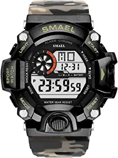 Men's Sports Watch, Digital Watch Military Watch with Waterproof Function and Alarm Clock- Desert Camouflage