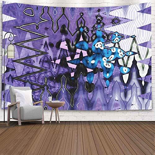 XNJHFGVB Tapiz de pared para Halloween, Navidad, Día de Acción de Gracias, otoño, 2012 x 152 cm, estilo de fondo en zigzag, tapiz para colgar en la pared, para decoración de dormitorio, hogar