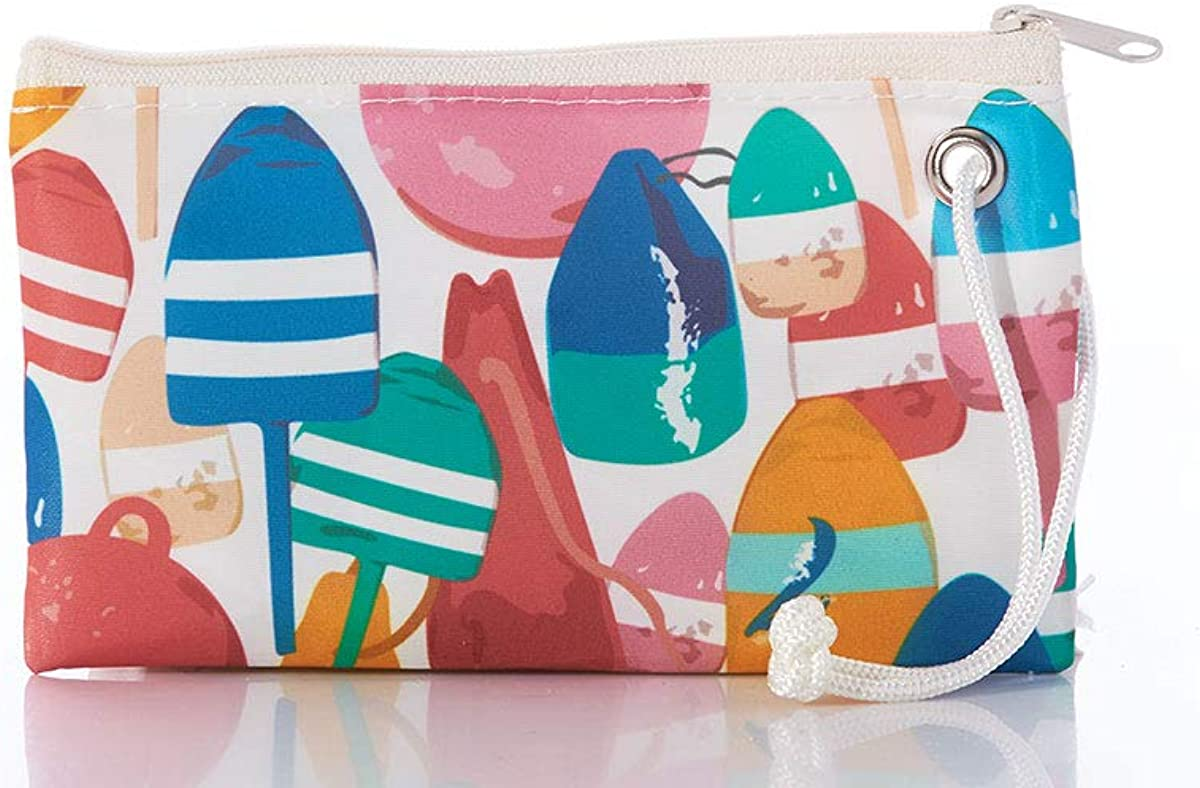 Sea Bags Recycled Sail Cloth Downeast Buoys Wristlet
