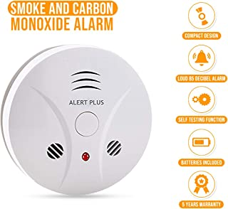 Smoke and Carbon Monoxide Alarm Combo Detector - Photoelectric Battery Operated