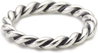 Intertwined Silver Size 4.5 Ring 190602-48