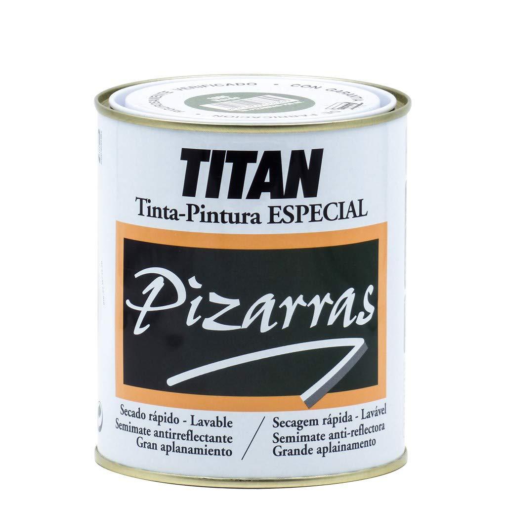Titan 01B180134 - Pintura para pizarras NEGRO Titan 750 ml: Amazon ...