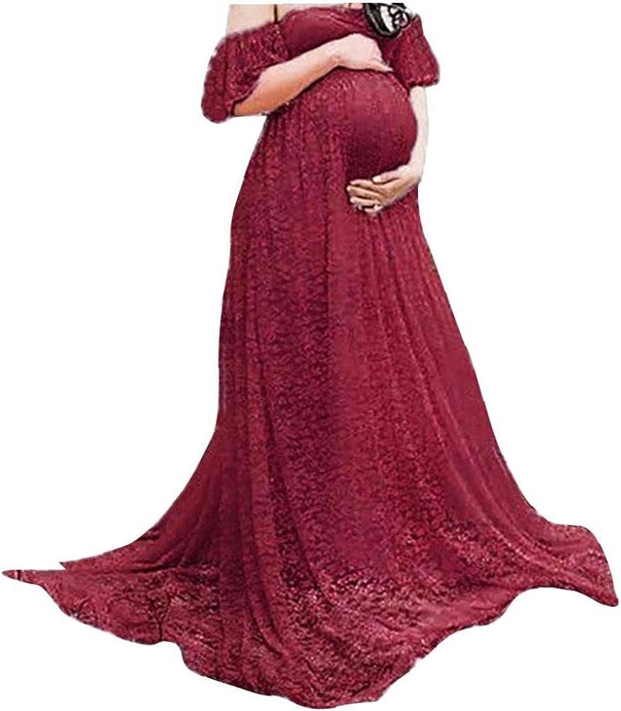 Elegant Max 60% OFF EElabper Maternity Photography Dress Lace Gown Pregnancy O Fancy