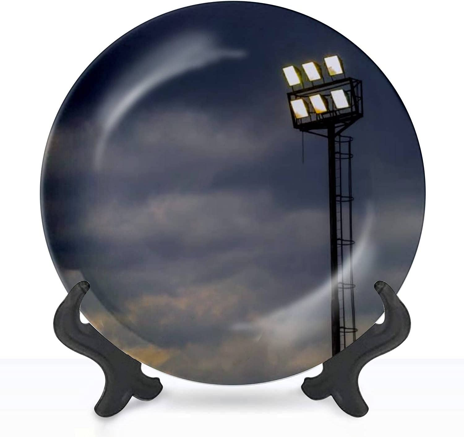 Ceramic Hanging Super Special SALE held Decorative Plate Bright lights on stadium sports New Orleans Mall
