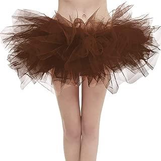 Aysimple Damen Mini Tüll Tutu Puffy Ballett Bubble Rock Ballettrock Tüllrock Tanzkleid für Party Halloween Kostüme Tanzen Cosplay