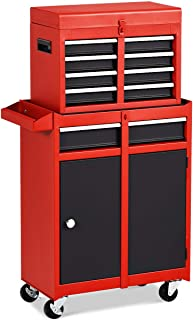 Goplus 5-Drawer Rolling Tool Chest, Tool Storage Box, Removable Tool Cabinet, Sliding..
