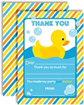 Little Rubber Duckie Thank You Notes for Kids, Ten 4