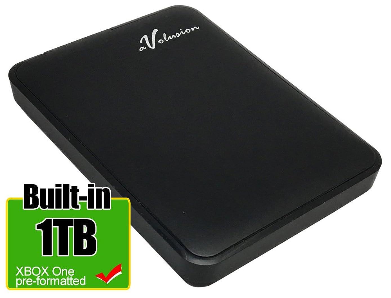 Avolusion 1TB USB 3.0 Portable External Xbox One Hard Drive (Xbox One Pre-Formatted) HD250U3-Z1 - w/2 Year Warranty