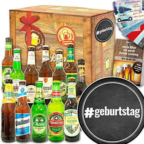 geburtstag ++ Geschenk 12x Bier Welt und DE ++ Geschenkidee zum Geburtstag