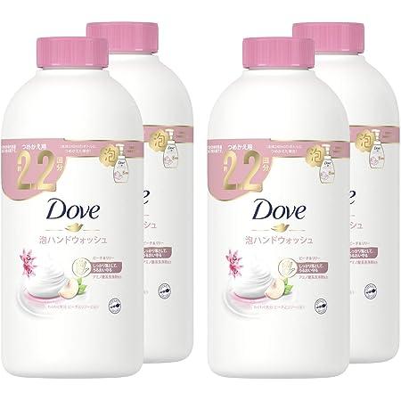 Dove(ダヴ) 泡ハンドウォッシュ ピーチ&リリー 詰替え用 430mL×4個 おまけ付き