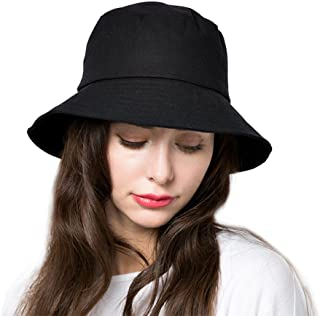371ee7ff82d Bucket Sun Hat Women Floppy Cotton Hats Wide Brim Summer Beach Caps SPF 50+  UV