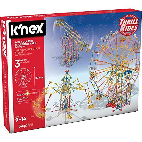 K'NEX Thrill Rides - 3-in-1 Classic Amusement Park Building Set, Multicolor