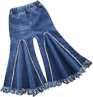 Kids Baby Girls Tassel Jeans Wide Leg Pants Trouser,Fineser Fashion Children Infant Toddler Denim Flare Bottoms Pants 1-4Yrs