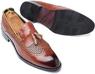 Chaussures pour hommes Hommes Glands Mocassins Enfilez PU cuir Semelle en caoutchouc bout pointu bruni style anti-dérapage...