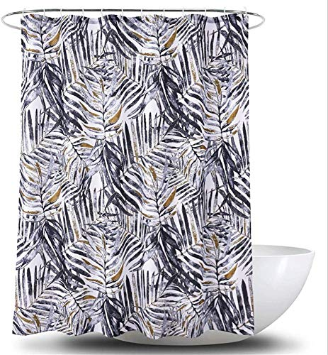Gordijn Douchegordijn 180 * 180 cm Retro Printing Leaf Waterproof Schimmelbestendig Polyester Shower Curtain Met Haken douche Liner for badkamer