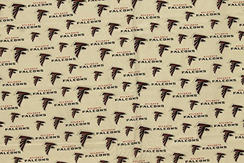 Atlanta Falcons Football White Sheeting Fabric Cotton 5 Oz 58-60'