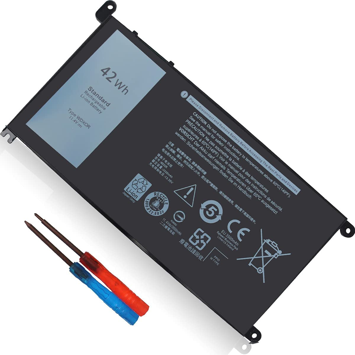 42Wh WDXOR 11.4V Battery for Dell 7368 7375 13 7378 Max 48% OFF Inspiron Special Campaign 536
