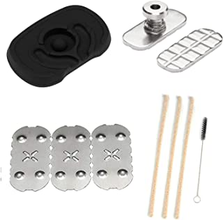 [3 Pack] Screens for Pax 2 Pax 3,Black Flat Mouthpiece, Adjustable Sandwich Pusher and 3D Bottom Screen Compatible with px 2 & px 3, [3+1] Pipe Cleaners Hard Bristle and Black Brush for Cleaning