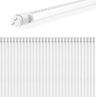 Sunco Lighting 30 Pack 4FT T8 LED Tube, 18W=40W Fluorescent, Clear Cover, 5000K Daylight, Single Ended Power (SEP), Ballast Bypass, Commercial Grade - UL