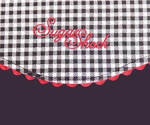 SugarShock Blanche 50s retro Tasche Rockabilly Gingham Handtasche - 3