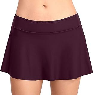 Amazon.es: Falda-pantalon - Morado / Ropa de baño / Mujer: Ropa