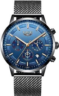 Watch for Men,LIGE Waterproof Chronograph Sport Analog Quartz Watches Gents Fashion Dress Wrist Watch …