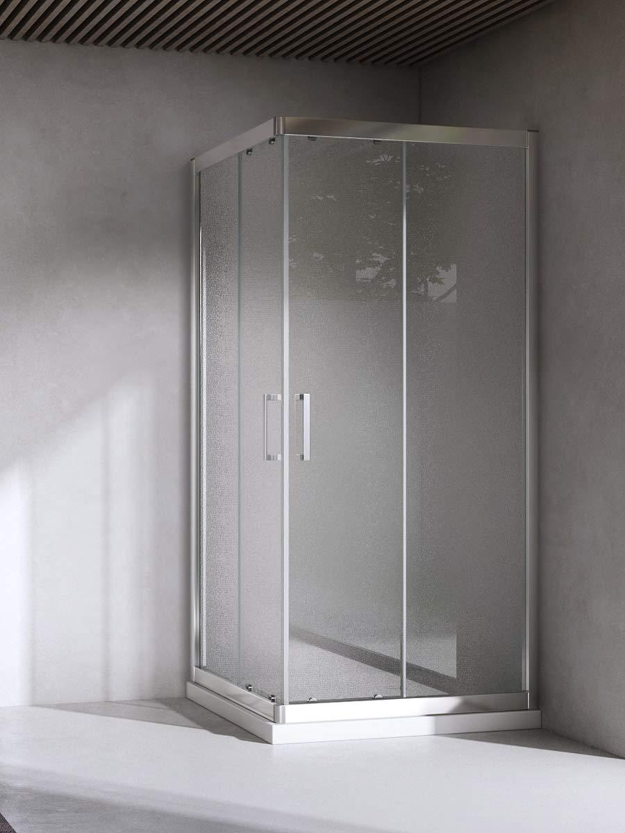 Yellowshop-Box cabina de ducha Baño Cuadrado, dimensiones: 70X70 Cm, Cristal 6 mm: transparente, gris: Amazon.es: Bricolaje y herramientas