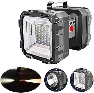 Fdrirect Lanterna de Cabeça Dupla Holofote USB Recarregável Portátil Ao Ar Livre Super Brilhante Luz de Trabalho Lanterna ...