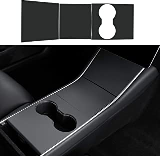 Jaronx for Tesla Model Y and Model 3 Center Console Wrap,ABS Console Wrap Kit Center Console Protector Cover Stickers for ...