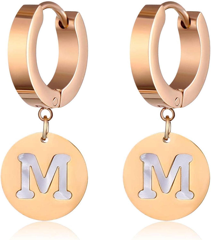 SENNI letter earrings stainless steel letter Dangle Hoop Earrings For women girls men