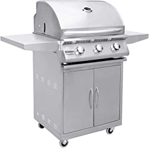 Summerset Sizzler Series Gas Grill On Cart, 26-Inch, Natural Gas