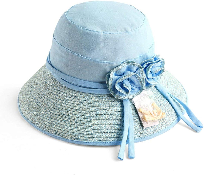 YD Hat  Women's Summer Sun Visor Foldable UV Sun Hat Outdoor Travel Wide Beach Hat Rattan Straw Hat (3 colors)    (color    2)