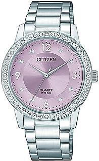 سيتيزن ساعة رسمية للنساء انالوج بعقارب ستانلس ستيل - EL3090-81X