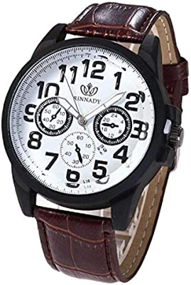Noopvan Mens Watches on Sale Mens Dress Wrist Watch with Leather Band