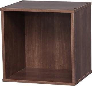 アイリスオーヤマ カラーボックス キュビック 幅34.9×奥行29×高さ34.4cm ブラウン CQB-35