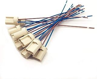 10 Delige Lamphouder van Keramiek,G9 Lamphouders Teflondraad, Halogeenlampen Keramische Connectorvoet, G9 Lamphouder 250V ...