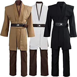 Tunic Costume Jedi Cosplay Costume Mens Halloween Cosplay Costume Tunic Robe Full Set