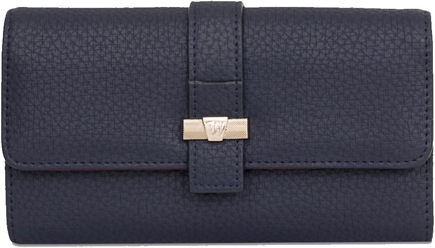 Trussardi Jeans New Women's Wallet ecoLeather Suzanne Smooth Navy bluee