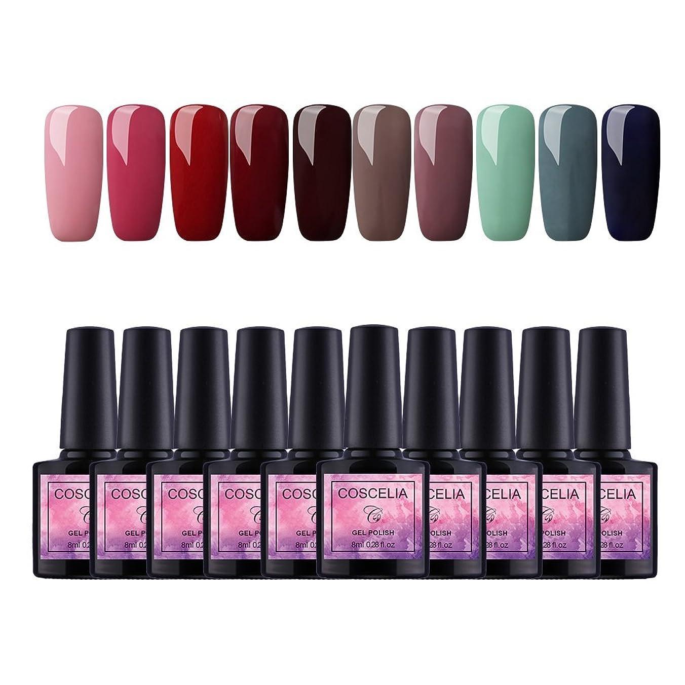 嫌い世界的に毎月Twinkle Store 10色套装 8 ml カラージェル  ジェルネイルカラー UV/LED 适用 ネイルアートジェルで簡単に DIY