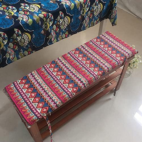 jHuanic 4 cm dicke Bankauflage für 2- und 3-Sitzer für Gartenbank 100/120 cm, langes Bankkissen für Terrasse, Esszimmer, Schaukel, Indoor Outdoor (I,60 x 35 x 4 cm)