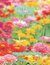 Lined and Graph Notebook Colorful blurred background zinnia flower bright sunlight cover, 120 pages - Large(8.5 x 11 inches)