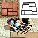 QMYS Garden Lawn DIY Irregular Paver Template Moulds Paving Brick Path Maker Mould Concrete Mold Stones Slabs Driveway